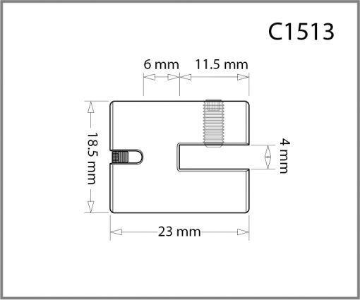 C1513 - 1.5mm Single Side Grip Drawing