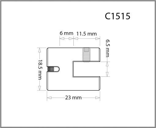 C1515 - 1.5mm Single Side Grip Drawing