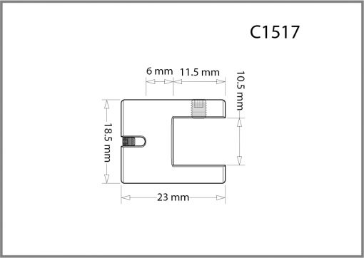 C1517 - 1.5mm Single Side Grip Drawing