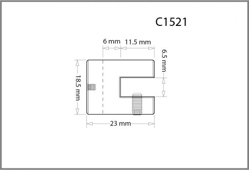 C1521 - 1.5mm Single Shelf Grip Drawing