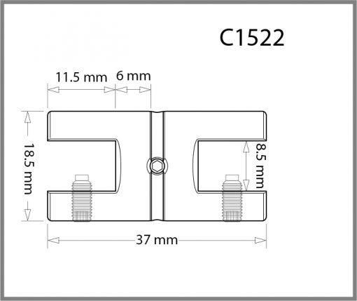 C1522 - 1.5mm Twin Shelf Grip Drawing