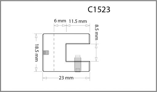 C1523 - 1.5mm Single Shelf Grip Drawing