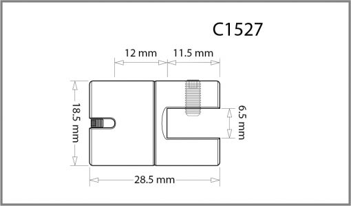 C1527 - 1.5mm Single Swivel Grip Drawing