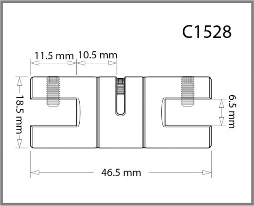 C1528 - 1.5mm Twin Swivel Grip Drawing