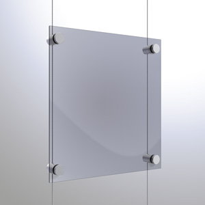 C1537 - 1.5mm Single Pierced Panel Support Rendering