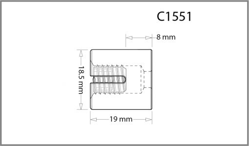C1551 - 1.5mm Frame Support Drawing