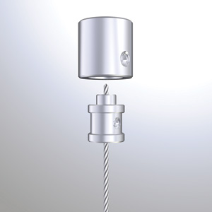 C1571 - 1.5mm Ceiling Fitting w/Cable Grip Rendering