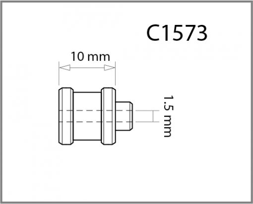 C1573 - 1.5mm Top Cable Grip Drawing
