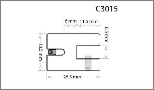 C3015 - 3mm Single Side Grip Drawing