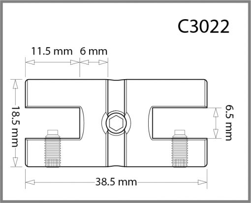 C3022 - 3mm Twin Shelf Grip Drawing