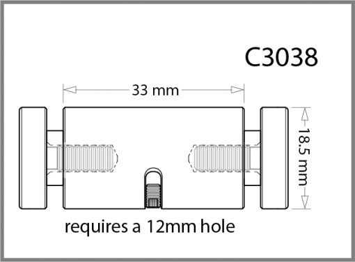 C3038 - 3mm Twin Pierced Panel Support Drawing