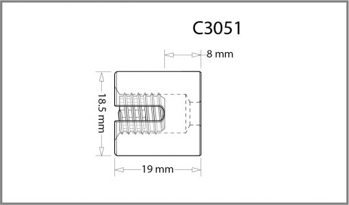 C3051 - 3mm Frame Support Drawing