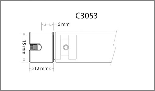 C3053 - 3mm Banner Pole with Ends Drawing