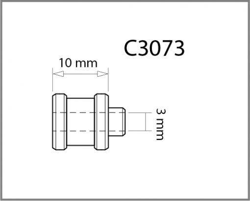 C3073 - 3mm Top Cable Grip Drawing