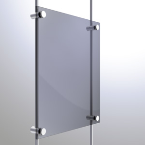 R1037 - 10mm Single Pierced Panel Support Rendering