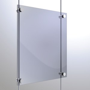 R6037 - 6mm Single Pierced Panel Support Rendering