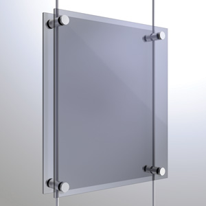 R6038 - 6mm Twin Pierced Panel Support Rendering