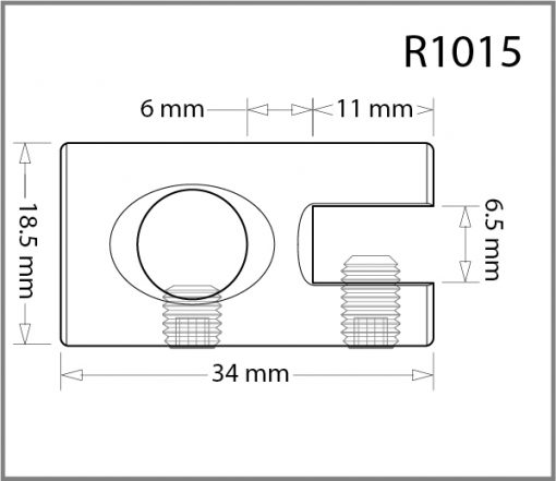 R1015 - 10mm Single Side Grip Drawing