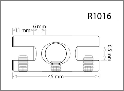 R1016 - 10mm Twin Side Grip Drawing
