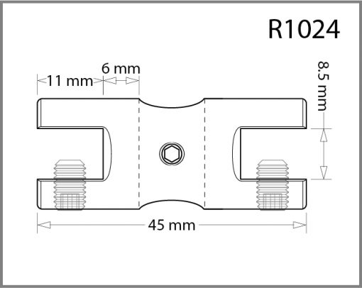 R1024 - 10mm Twin Shelf Grip Drawing