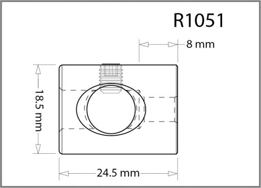 R1051 - 10mm Frame Support Drawing