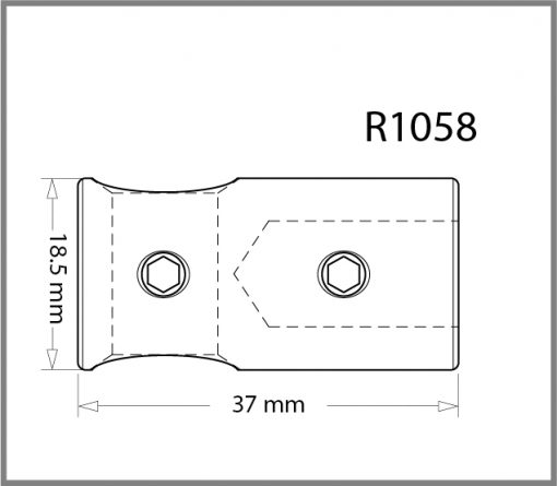 R1058 - 10mm 90 Degree Connection Drawing
