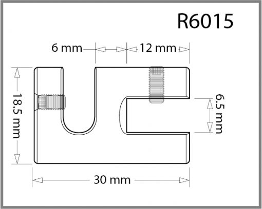R6015 - 6mm Single Side Grip Drawing