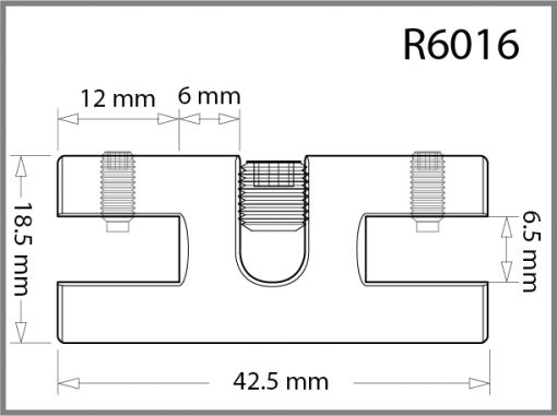 R6016 - 6mm Twin Side Grip Drawing