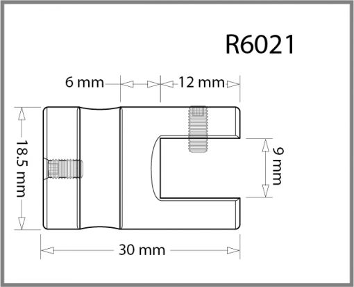 R6021 - 6mm Single Shelf Grip Drawing