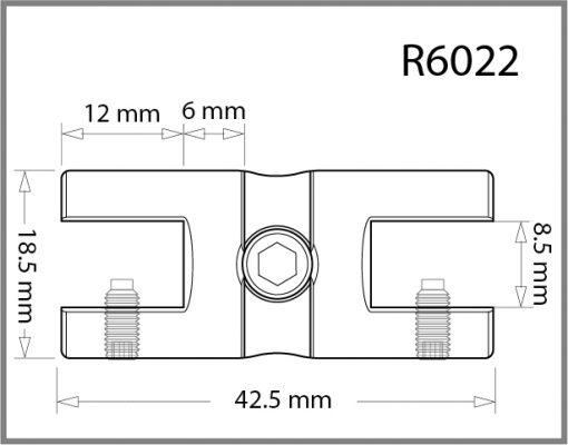 R6022 - 6mm Twin Shelf Grip Drawing