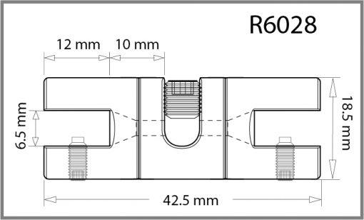 R6028 - 6mm Twin Swivel Side Grip Drawing