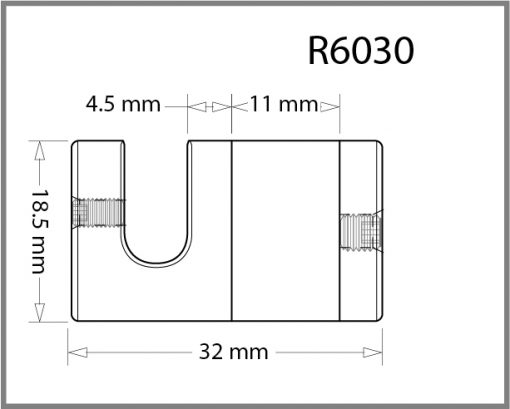 R6030 - 6mm Top and Bottom Grip Drawing