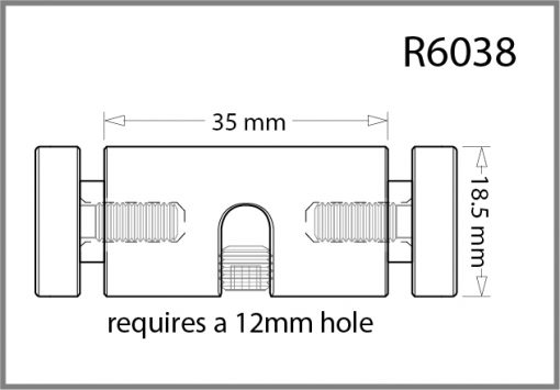R6038 - 6mm Twin Pierced Panel Support Drawing