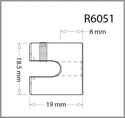 R6051 - 6mm Frame Support Drawing