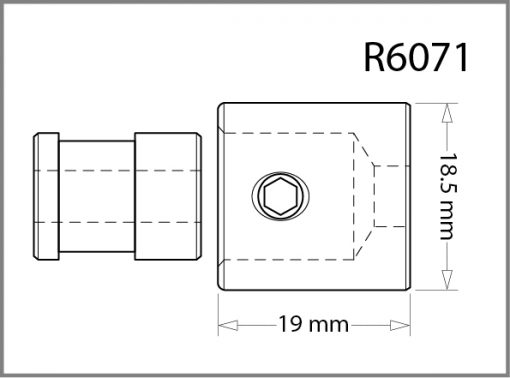 R6071 - 6mm Ceiling Fitting w/Threaded Ring Drawing