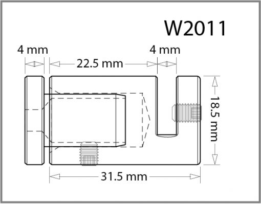 W2011 - Wall Mounted Side Grip Drawing