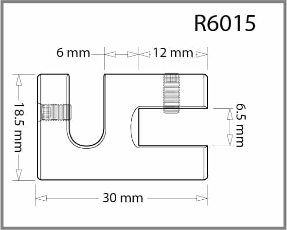 Single Side Grip for 6mm Rod Details - Holds up to 6mm Material
