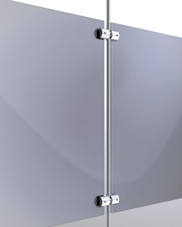 Rendering of Twin Side Grip for 6mm Rod - Holds up to 6mm Material