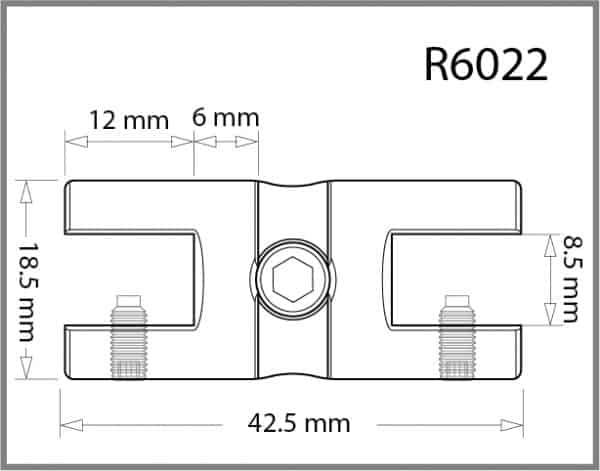 Twin Shelf Grip for 6mm Rod Details - Holds up to 8mm Material