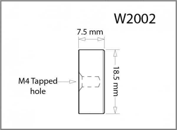18.5mm Diameter Button - M4 Tapped Details