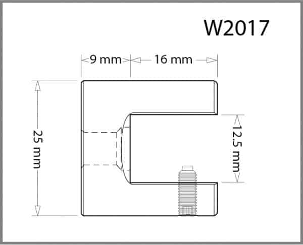 25mm Diameter Wall/Ceiling Panel Grip Details - Holds up to 12mm Material