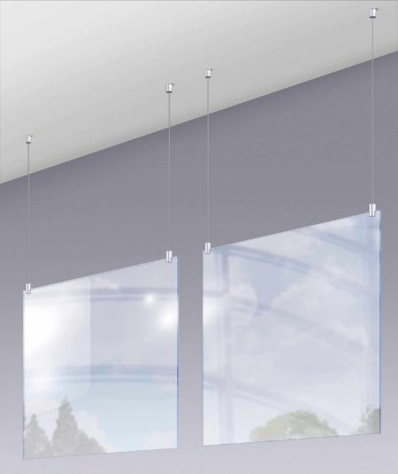 Plexi Dividers Isolated for COVID-19 Protection